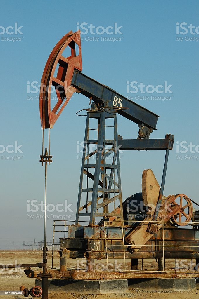 Old pump jack royalty-free stock photo