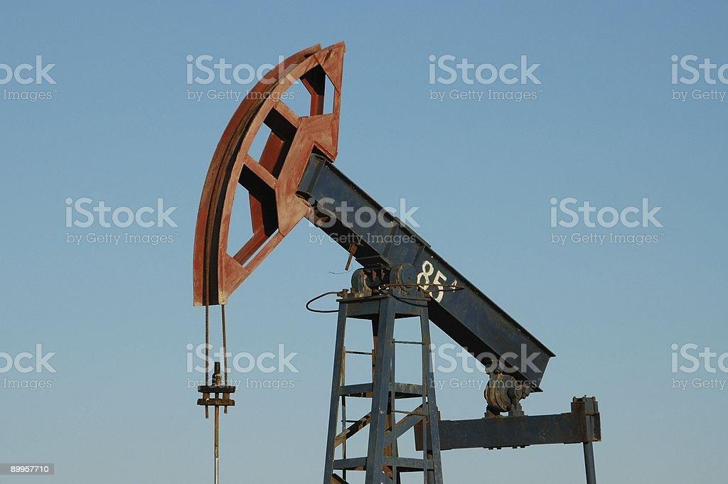 Old pump jack royalty-free stock photo