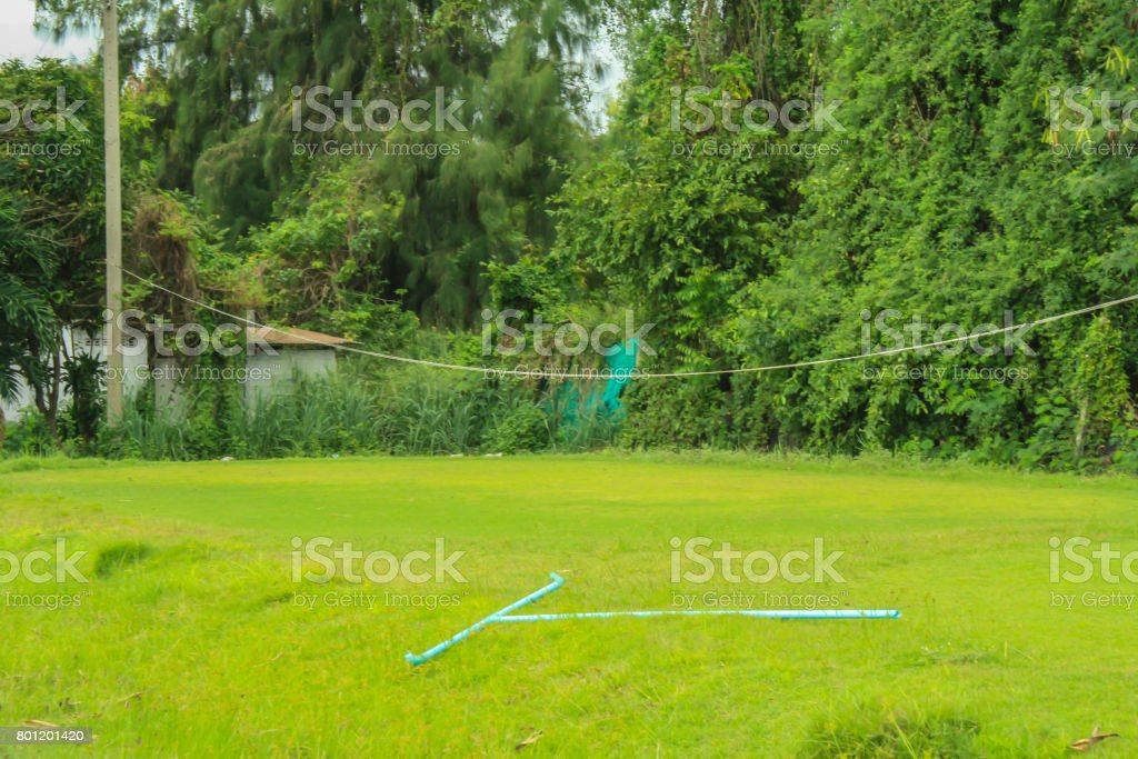 old putting green stock photo