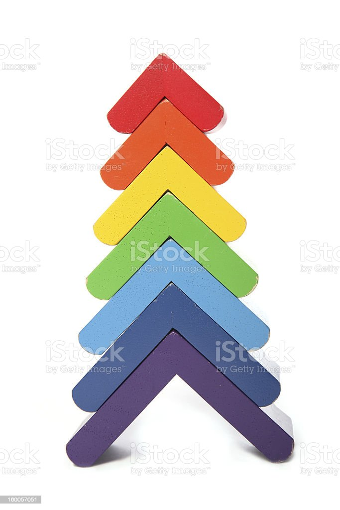 Old pyramide toy front view royalty-free stock photo