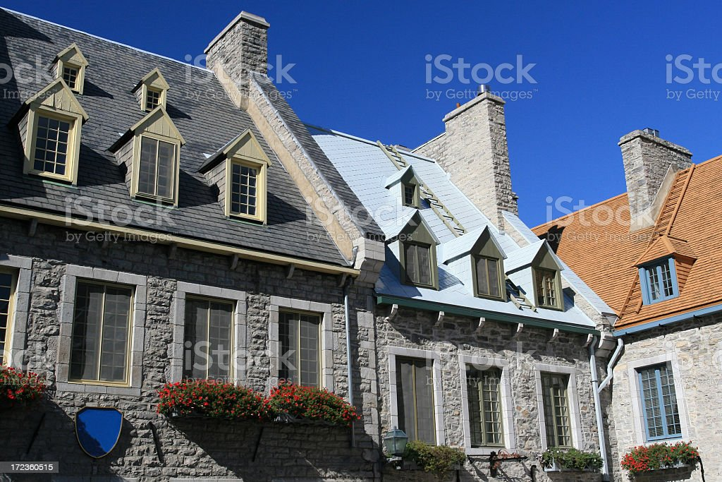 Old Quebec City Buildings and Architecture, Canada stock photo