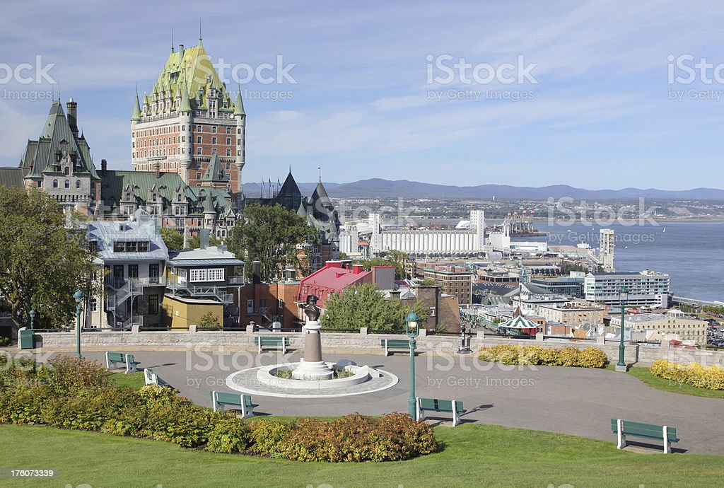 Old Quebec City Park royalty-free stock photo