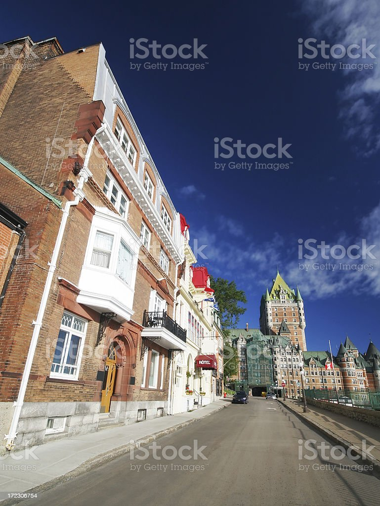 Old Quebec Landmarks royalty-free stock photo