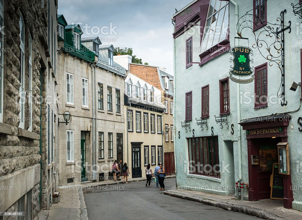 Old Quebec Street Scene stock photo