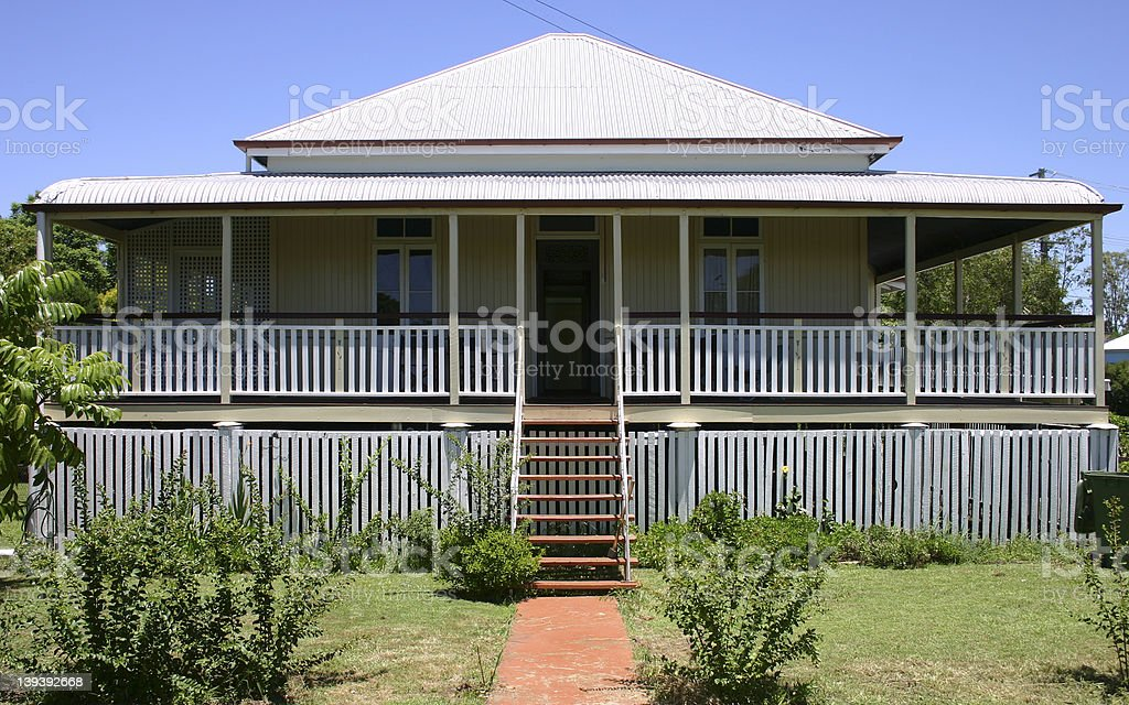 Old Queenslander cottage royalty-free stock photo