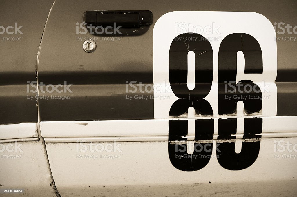 Old Racecar Number royalty-free stock photo