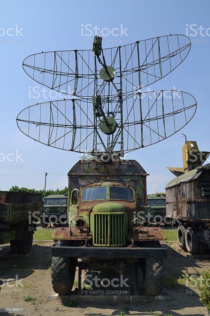 Old Radar truck stock photo