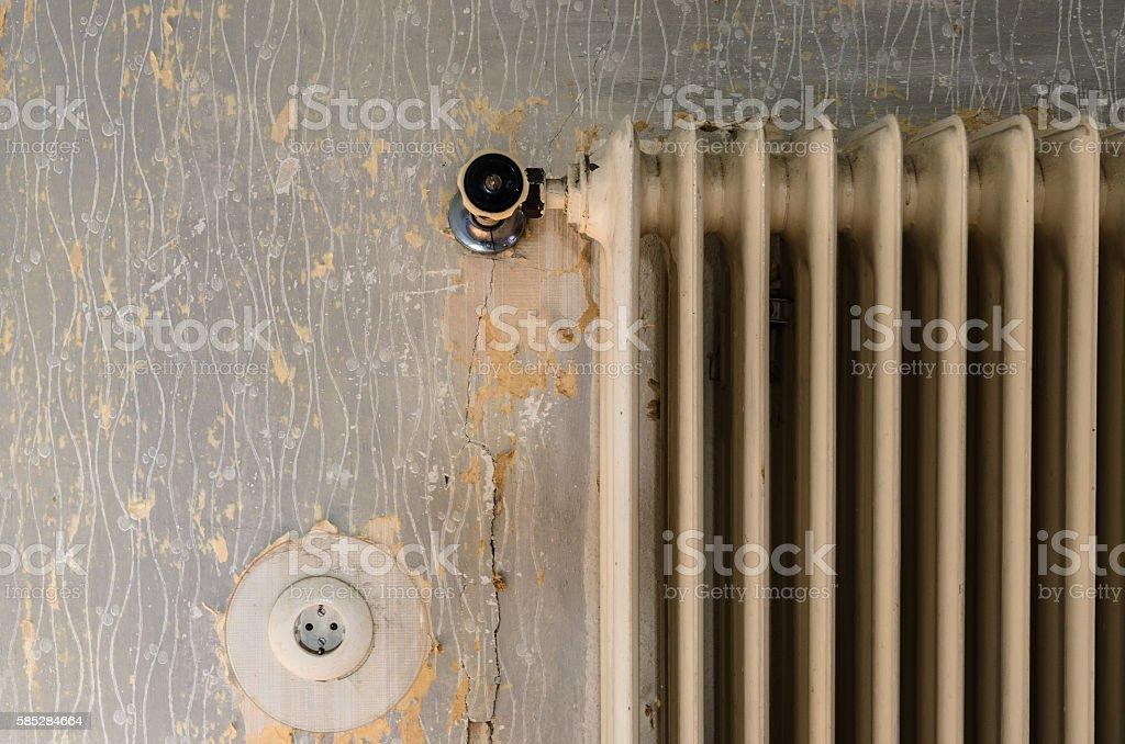 Old radiator stock photo
