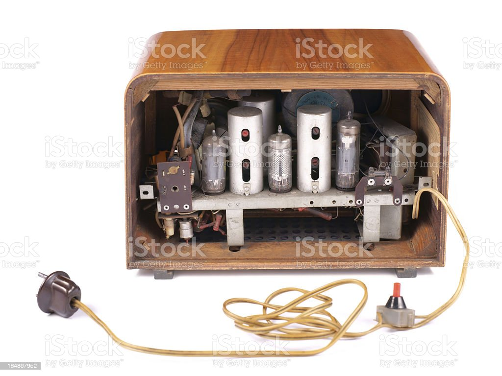 Old Radio, on a white background stock photo