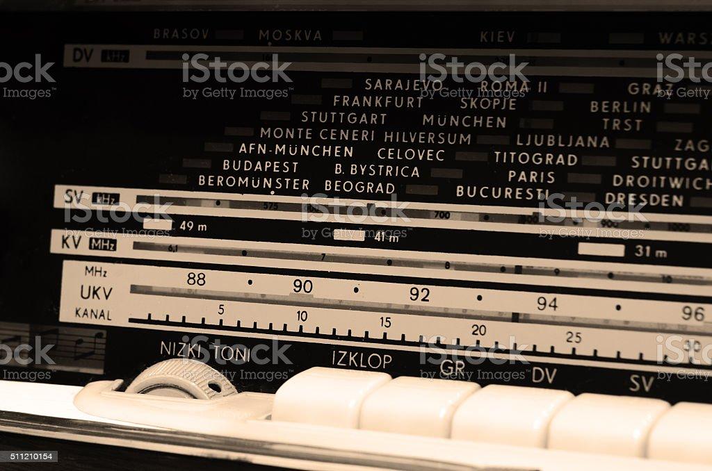 Old radio scale royalty-free stock photo