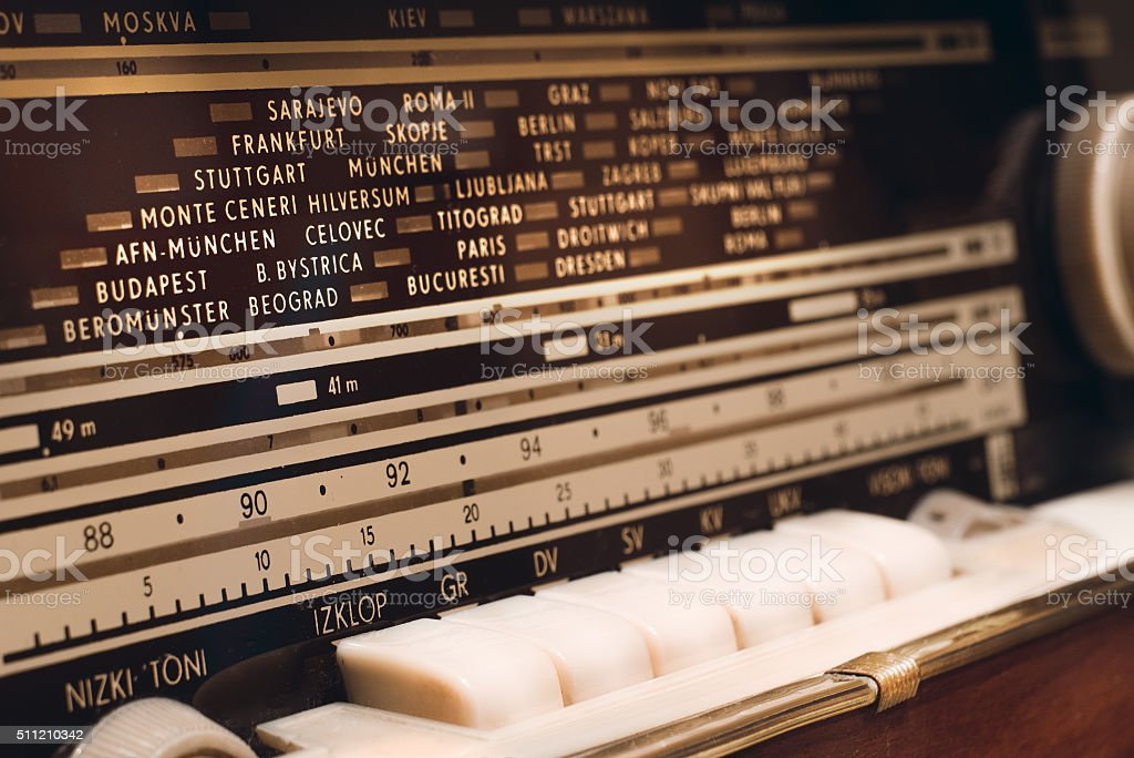 Old radio scale royalty-free stock photo