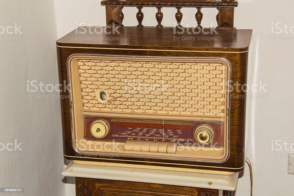 Old radio valve stock photo