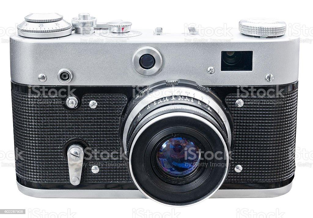 Old ragefinder camera stock photo