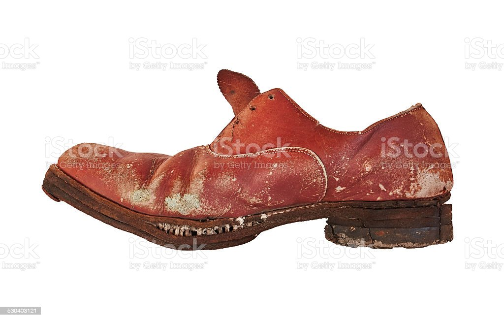 old ragged shoe royalty-free stock photo