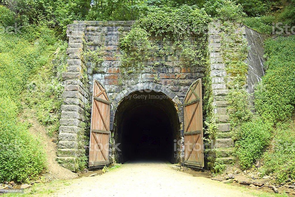 Old Rail Bike Tunnel royalty-free stock photo