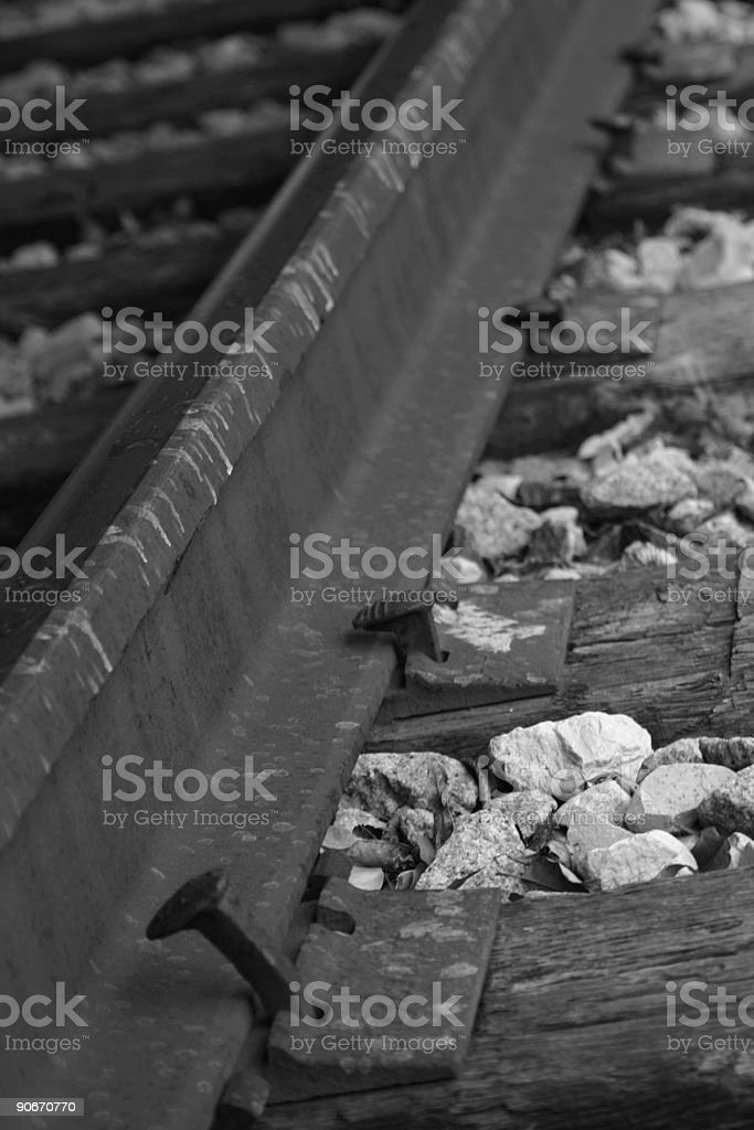 Old Rail Tie royalty-free stock photo