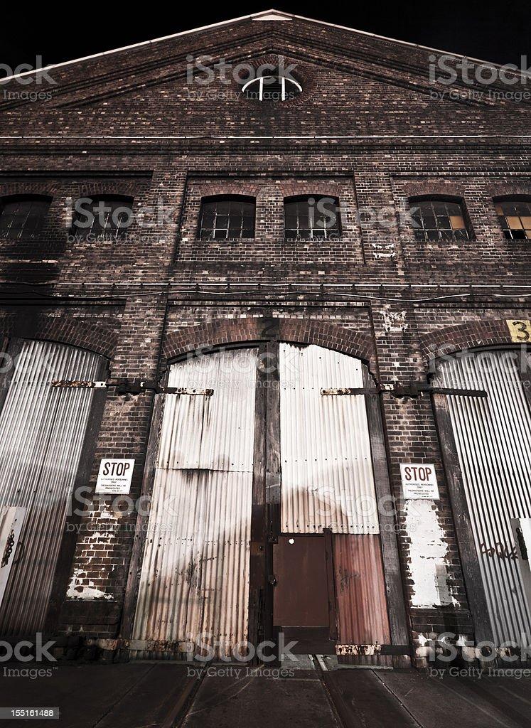 old rail yard workshop royalty-free stock photo