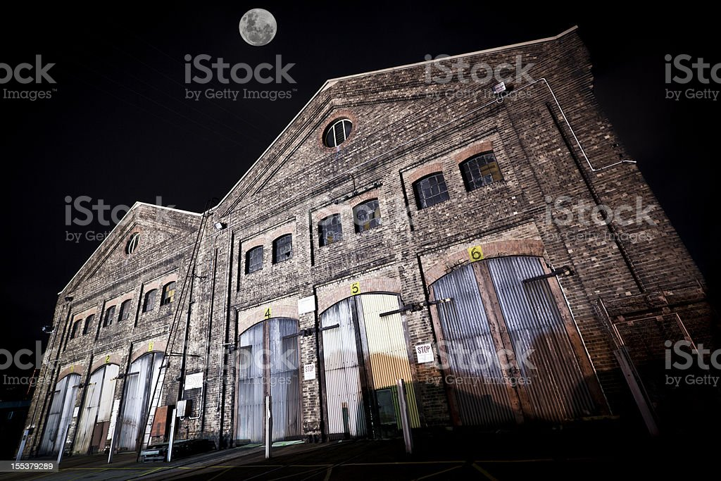 old rail yard workshop royalty-free stock photo