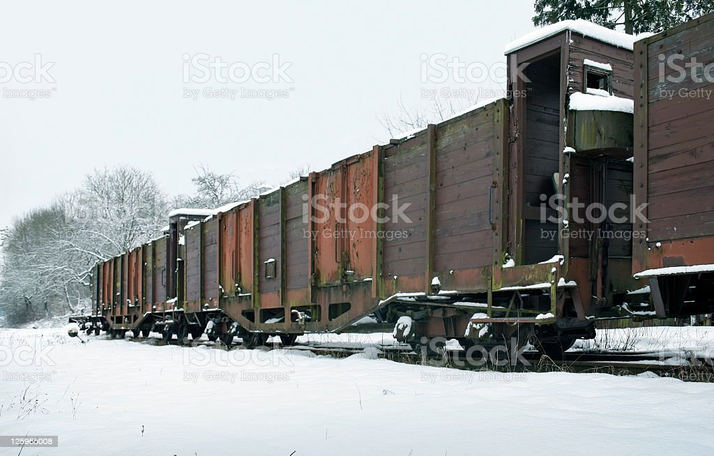 old railcars in Germany royalty-free stock photo