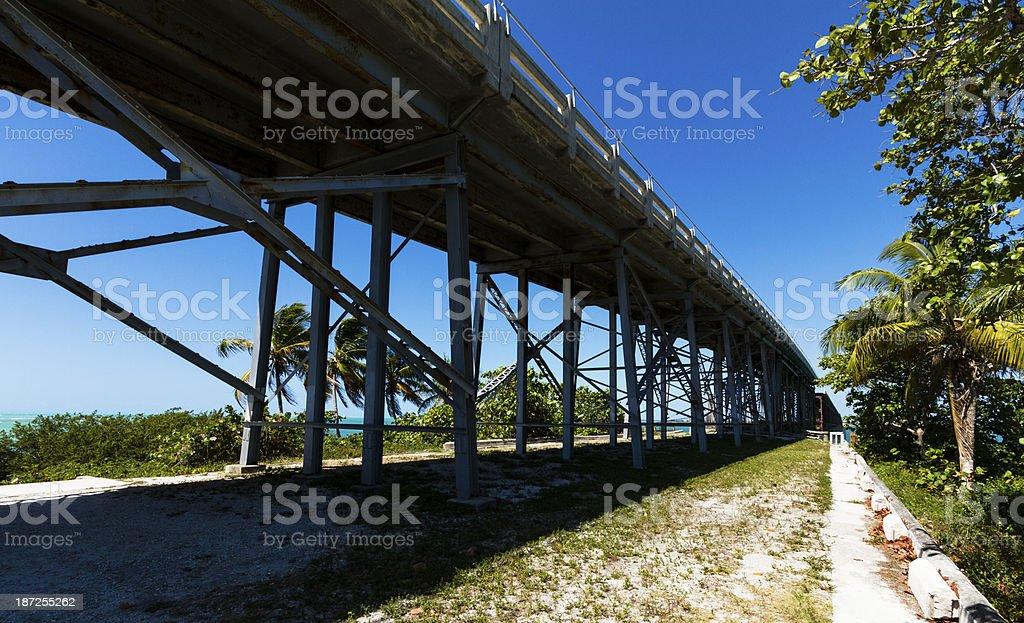 Old Railroad Bridge, Bahia Honda Key, FLorida, USA stock photo