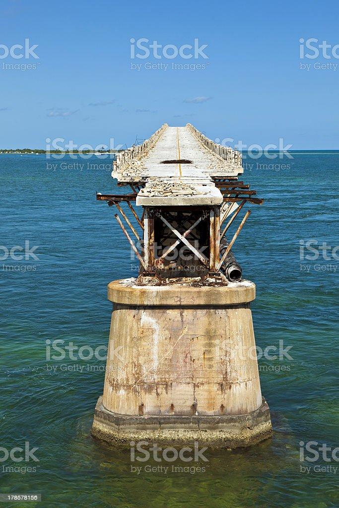 old Railroad Bridge on the Bahia Honda Key royalty-free stock photo