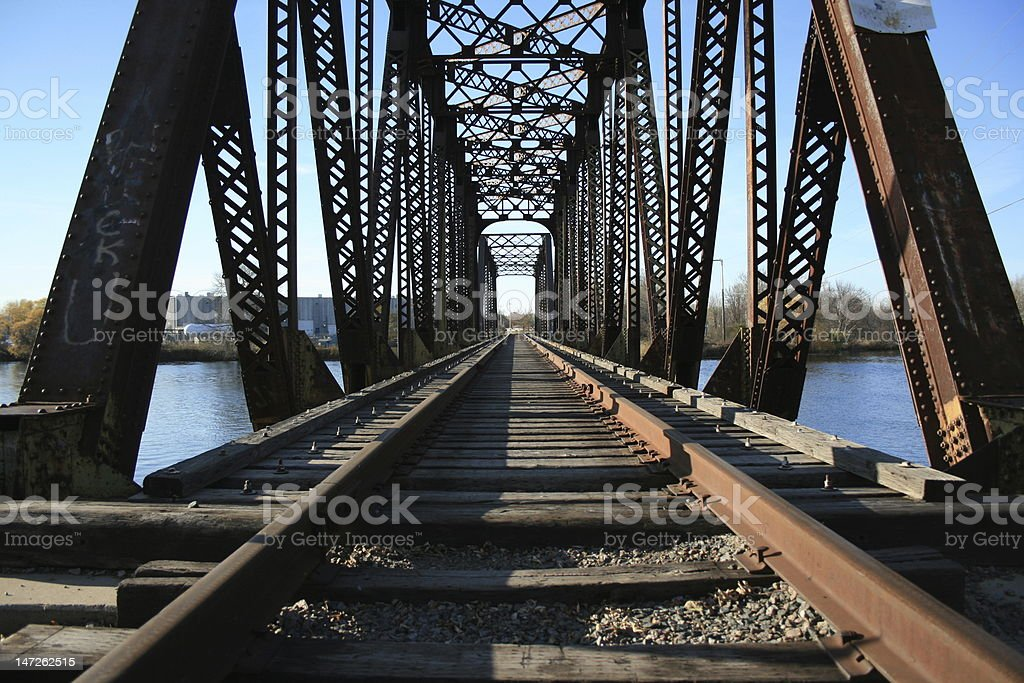 Old Railroad Bridge royalty-free stock photo