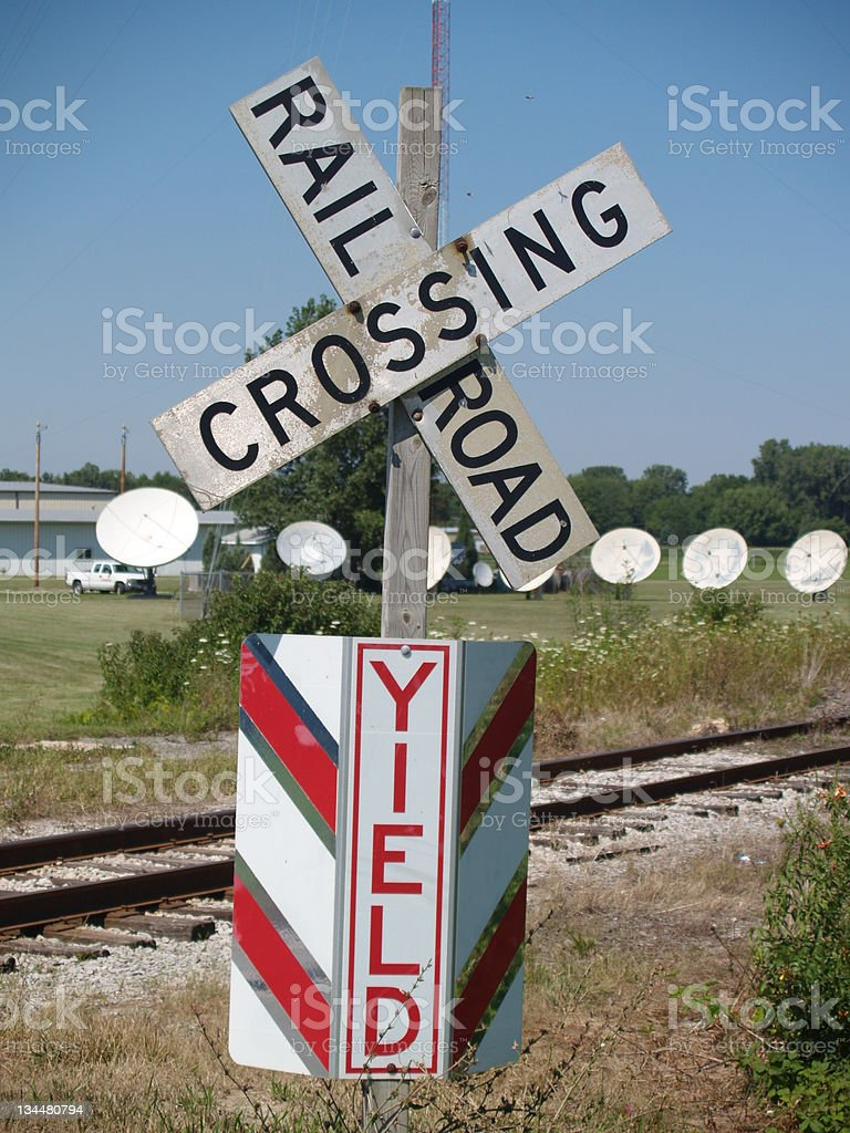 Old Railroad Crossbucks royalty-free stock photo