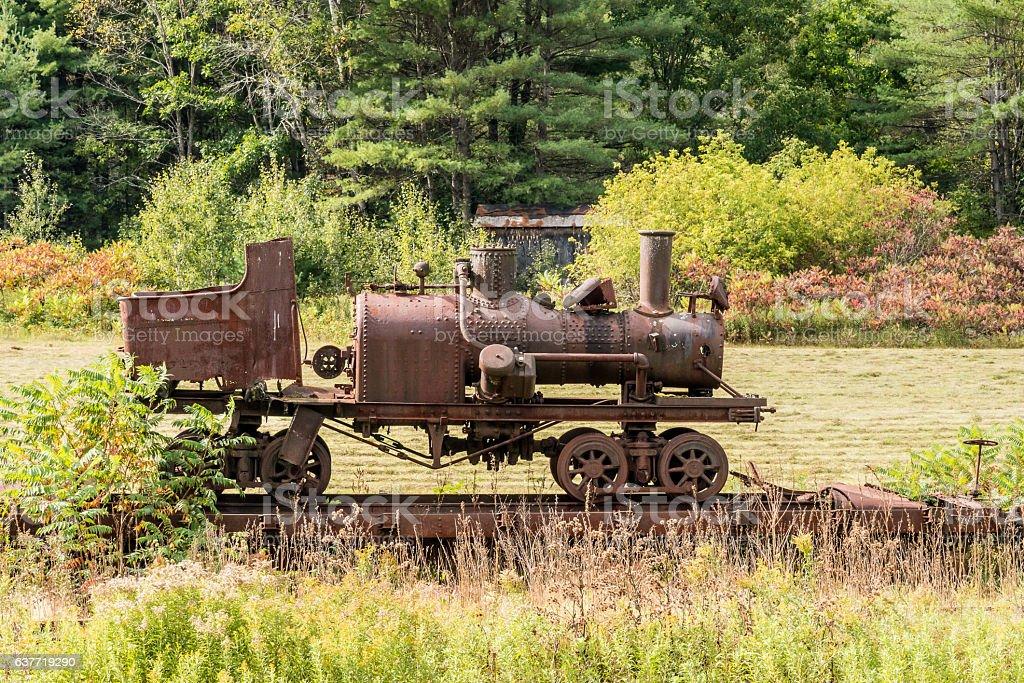Old Railroad Engine stock photo