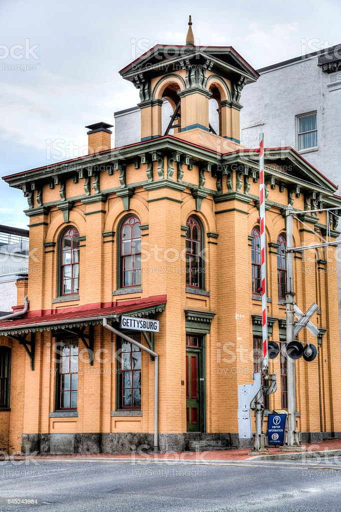 Old Railroad Station in Gettysburg Pennsylvania stock photo