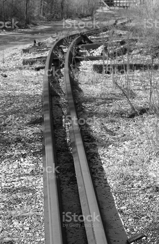 Old Railroad/& de trem (preto e branco foto royalty-free