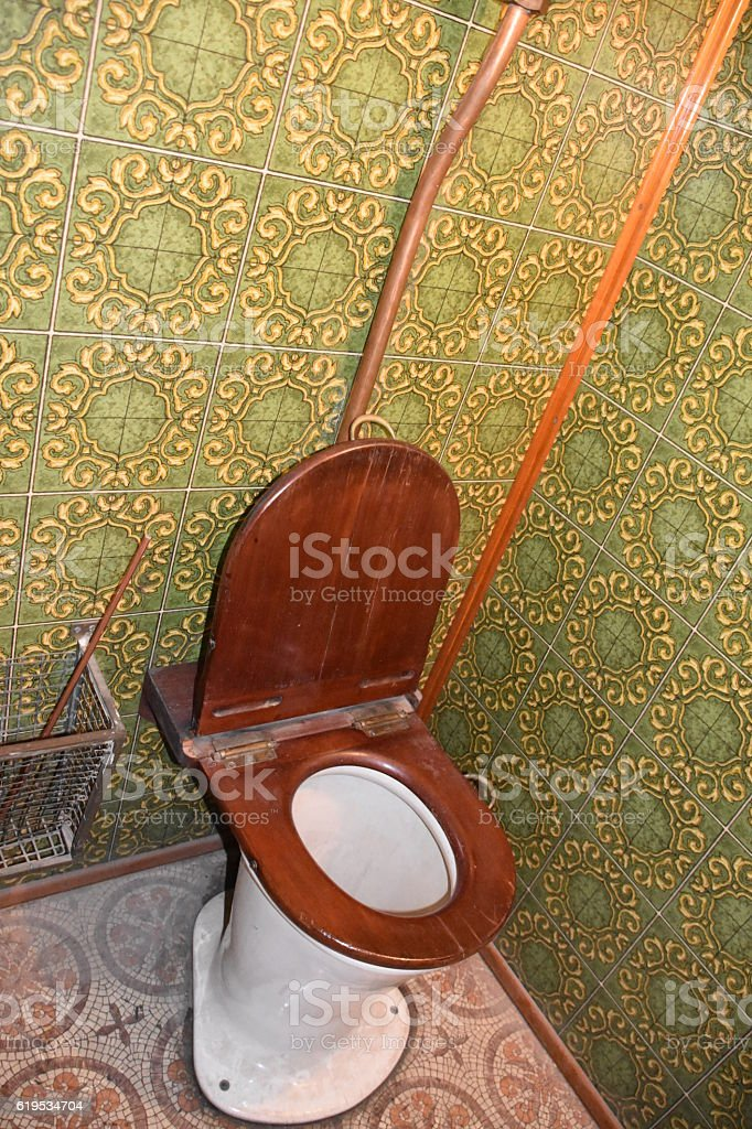 Old Railway bathroom stock photo