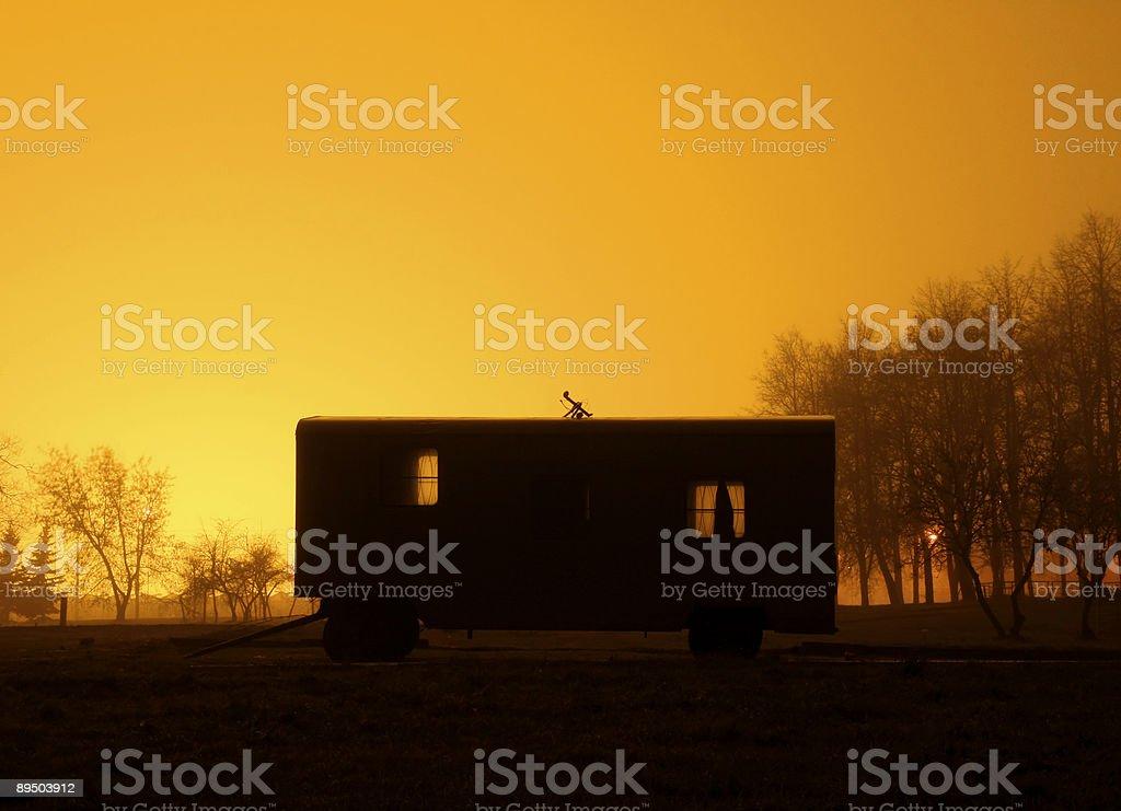 Old railway coach royalty-free stock photo