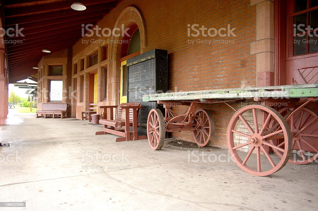 Old railway Platform royalty-free stock photo