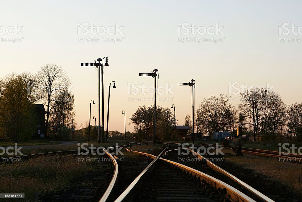 Old railway station royalty-free stock photo