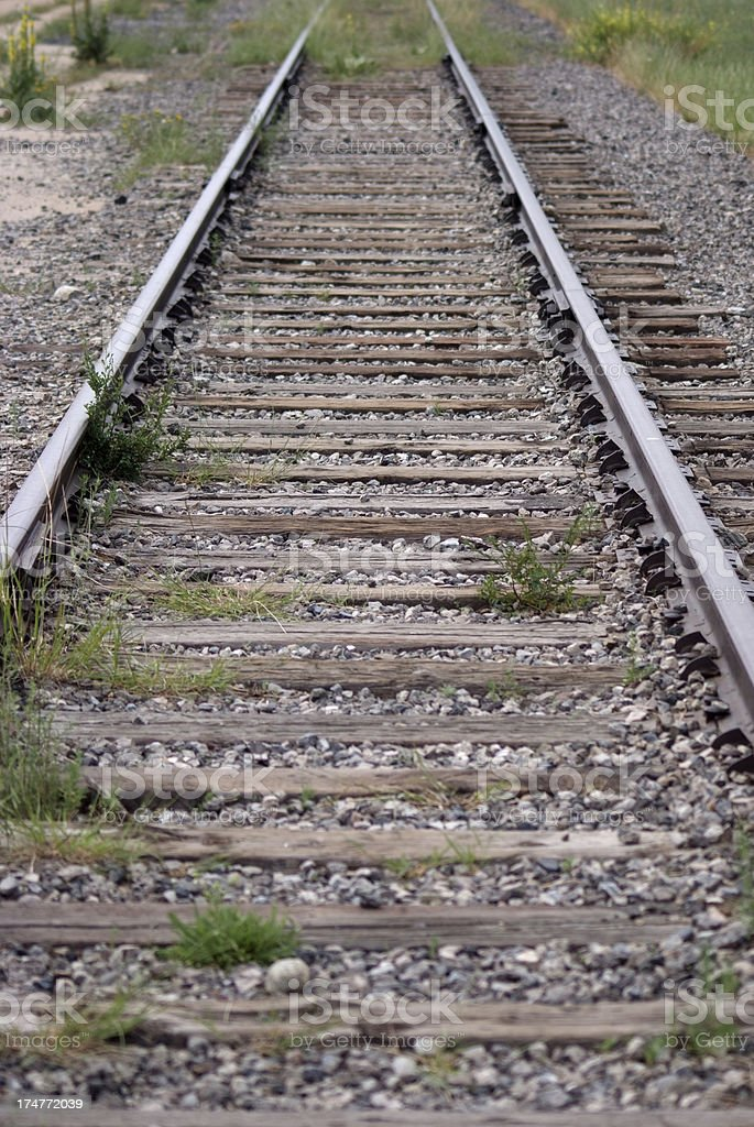 Old railway track royalty-free stock photo