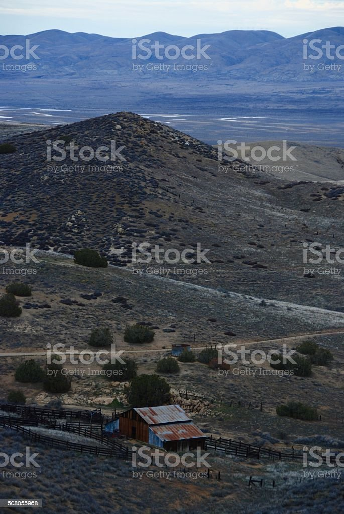 Old Ranch in Desert Mountains stock photo