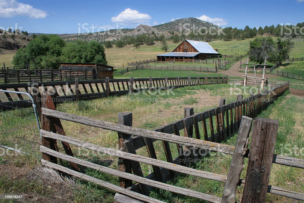 Old Ranch in Eastern Oregon stock photo