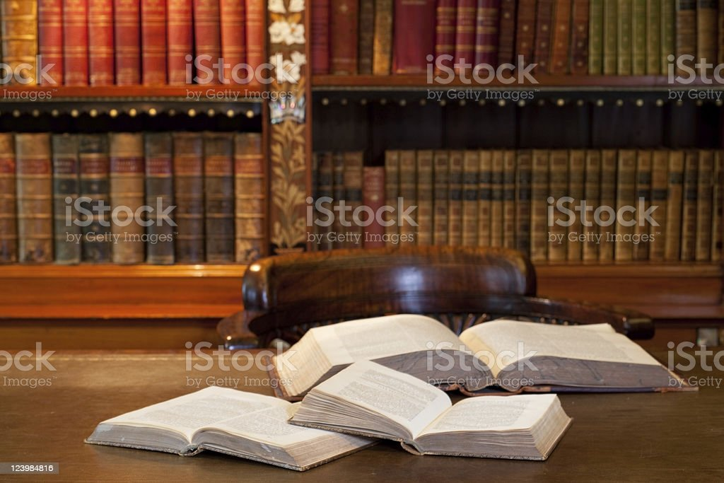 Old reading room royalty-free stock photo
