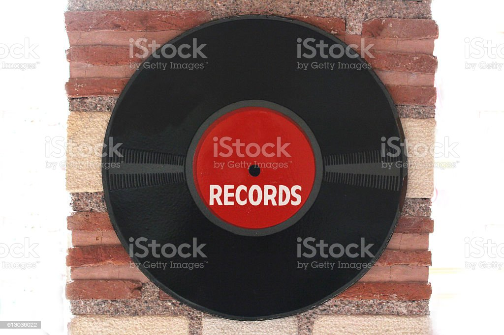 Old record stock photo