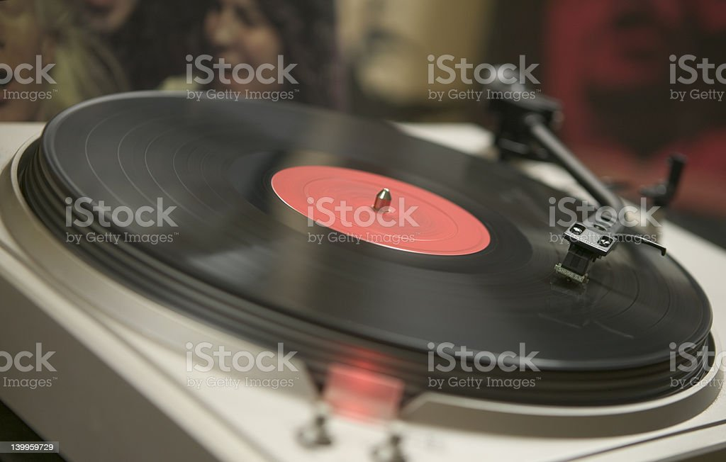 Old record player spins the classics royalty-free stock photo