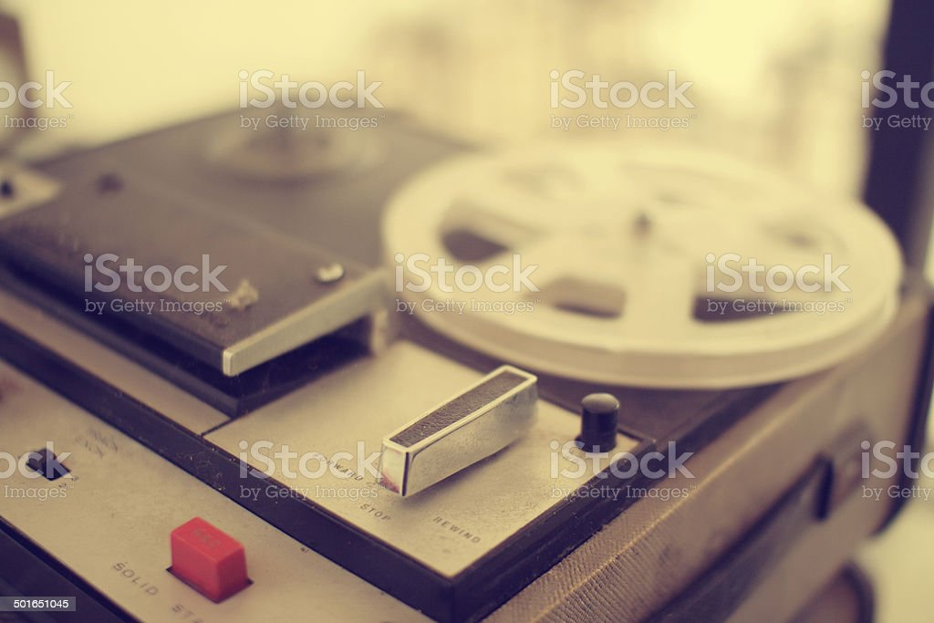 old  recording machine stock photo