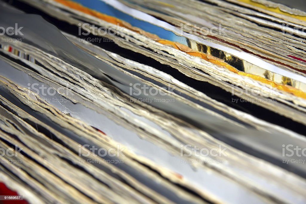 Old records stock photo