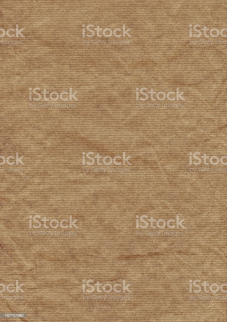 Old Recycle Brown Striped Kraft Paper Hi-Res Texture royalty-free stock photo