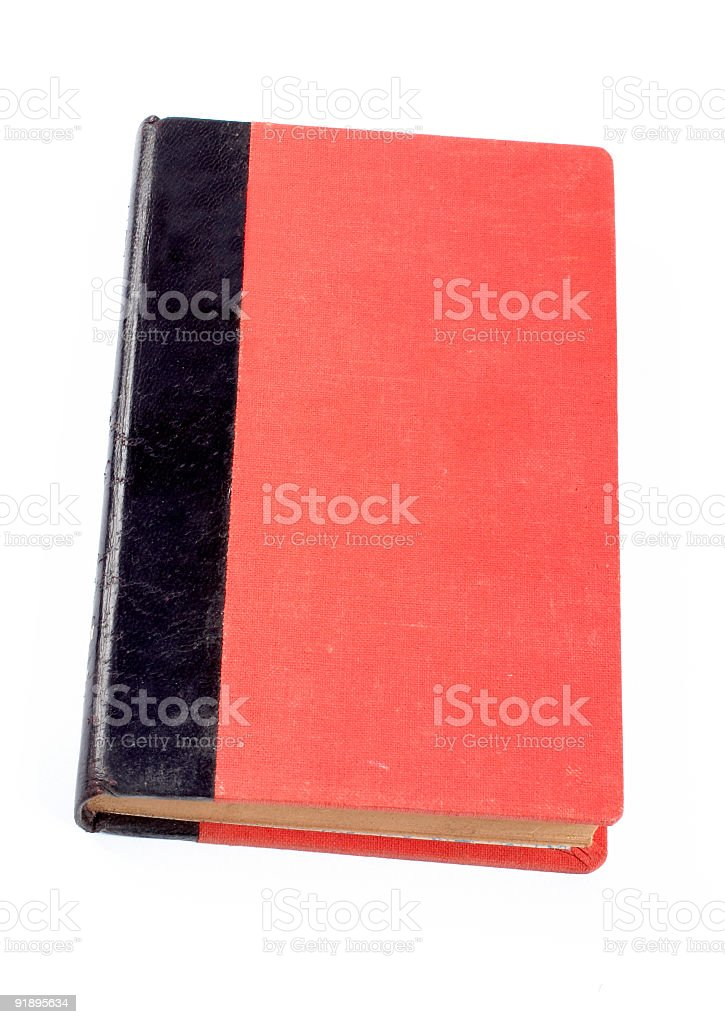 Old red and black book royalty-free stock photo