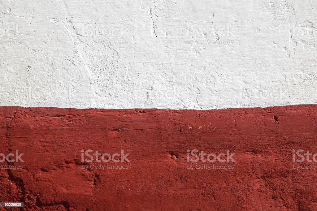 Old Red and White  Wall for Background royalty-free stock photo