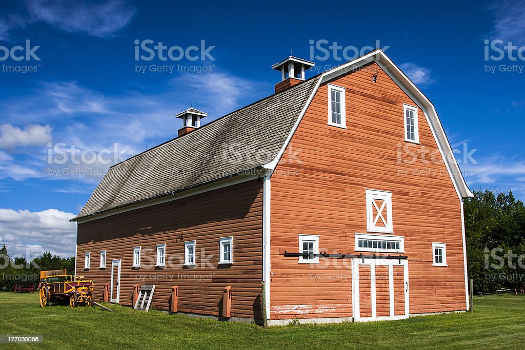 Old Red Barn on Farm royalty-free stock photo