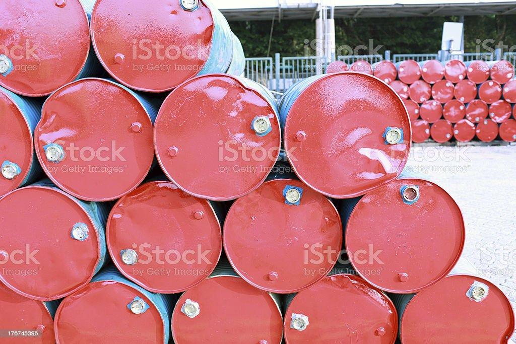 old red barrell in hong kong china royalty-free stock photo