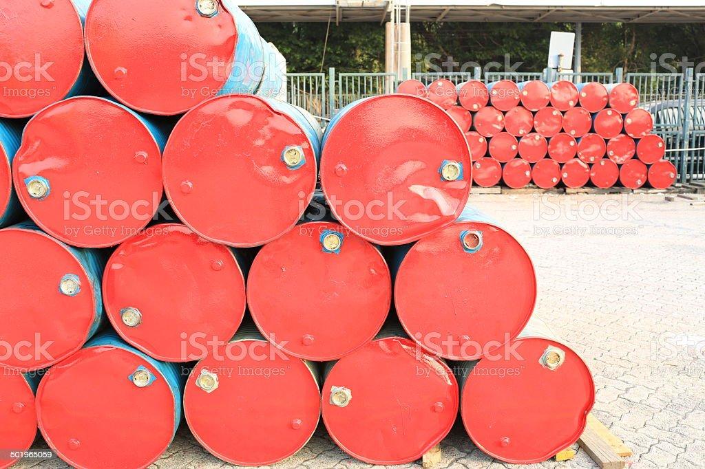 old red barrell in hong kong china stock photo