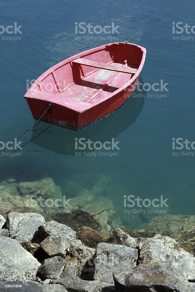 Old Red Boat royalty-free stock photo