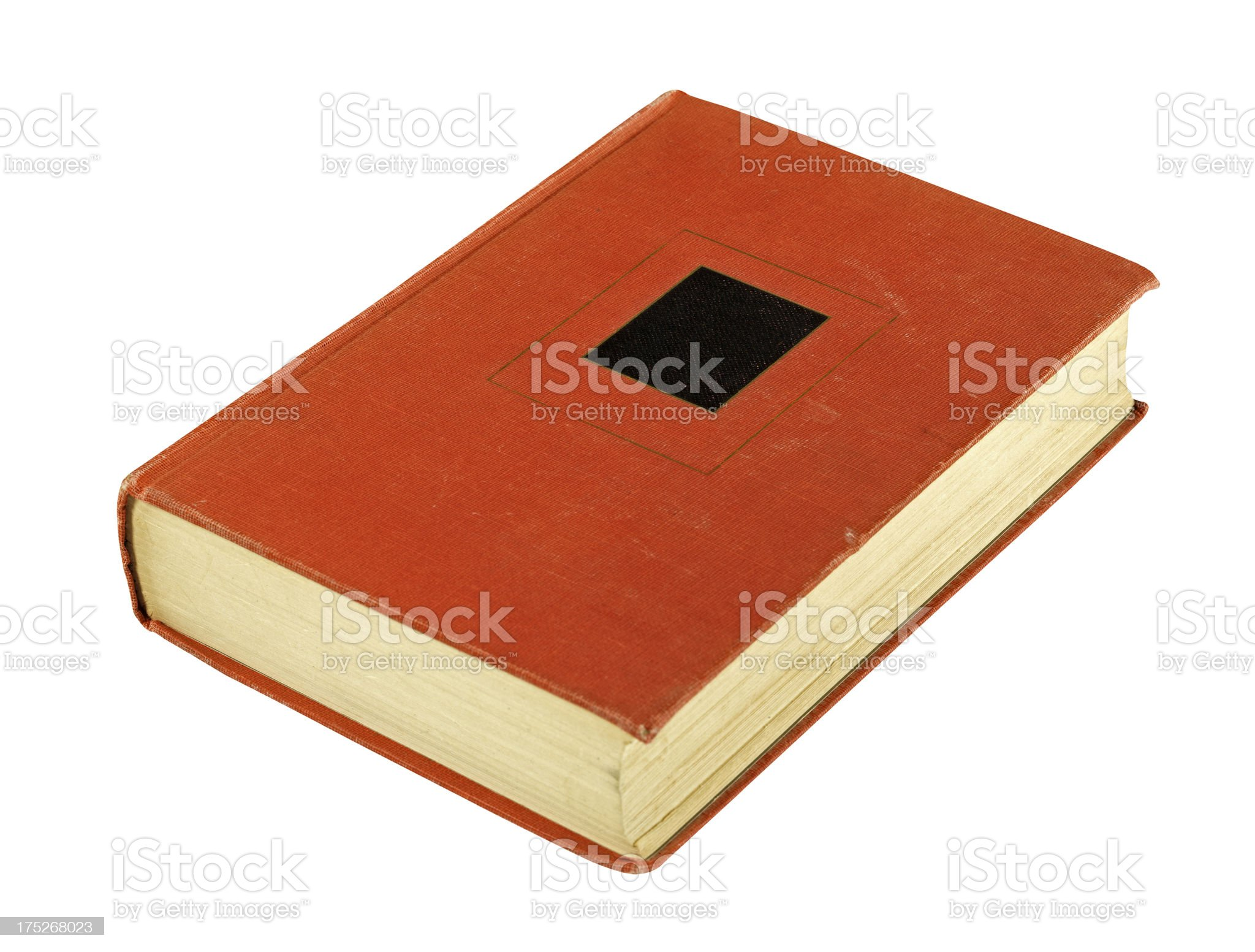 Old red book royalty-free stock photo